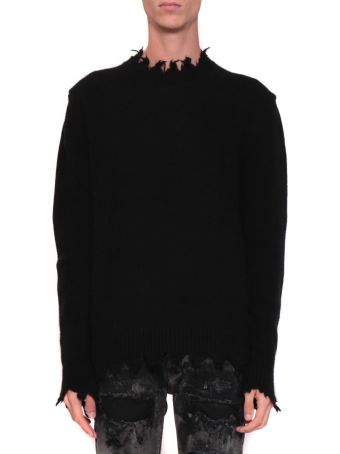 Overcome Wool Blend Distressed Sweater