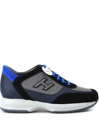 Hogan New Interactive H Flock Dark Blue Sneakers