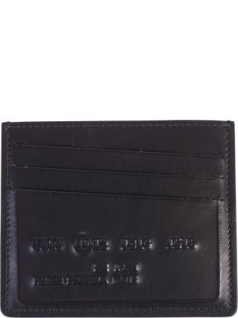 Maison Margiela Black Branded Card Holder