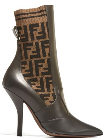 Fendi Elasticated Panel Ankle Boots