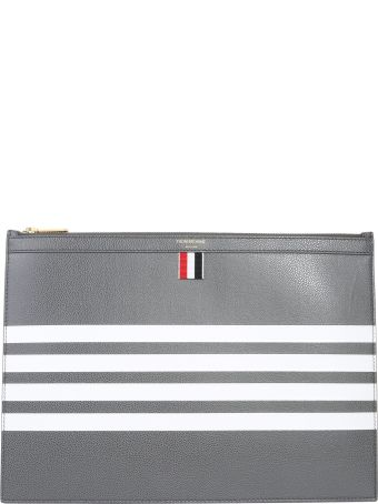 Thom Browne 4-bar Leather Pouch