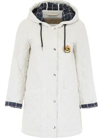 Burberry Quilted Parka With Hood