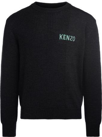 Kenzo Grey Anthracite Roundneck Jumper