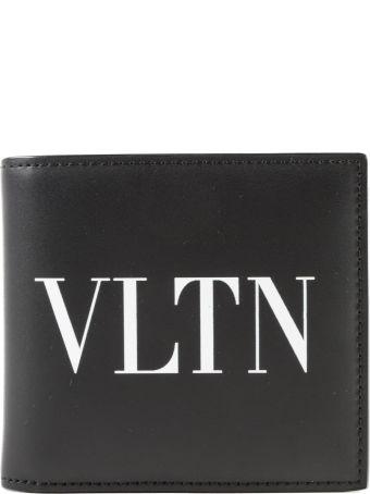 Valentino Garavani Vltn Logo Print Billfold Wallet