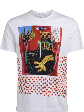 Comme des Garçons Shirt Comme Des Garcons Shirt White Roundneck T-shirt With Jean-michel Basquiat Graphic
