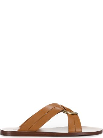 Chloé Chloé Ring Embellished Flat Sandals