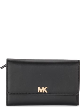 Michael Kors Mott Large Black Leather Wallet