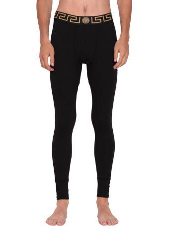 Versace Logo Cotton Trousers