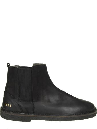"""Golden Goose """"portman"""" Boots In Faded Black Leather"""