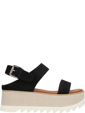 Premiata Platform  Black Suede Sandals