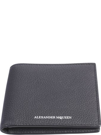 Alexander McQueen Black Branded Wallet