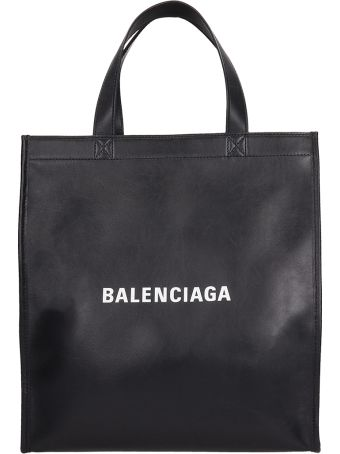 Balenciaga Black Leather Market Shopper Bag