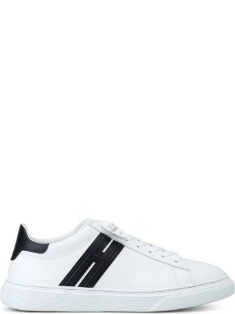 Hogan H365 Elongated H White Leather Sneakers