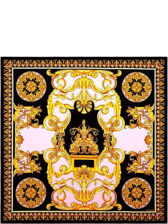Versace Contrast Barocco-print Silk-twill Scarf