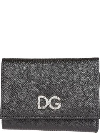 Dolce & Gabbana Foldover Logo Wallet
