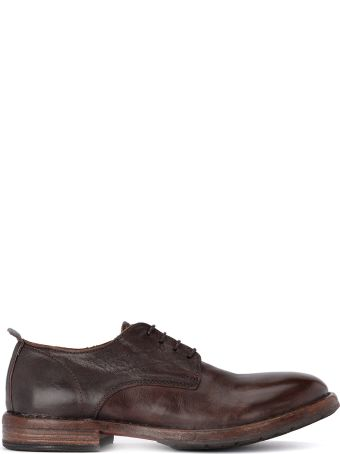 Moma Bowling Old Dark Brown Leather Lace Up Shoes.