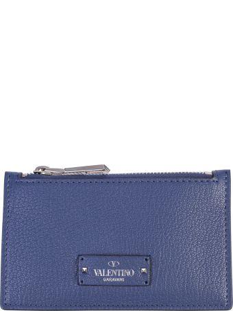Blue Branded Card Holder