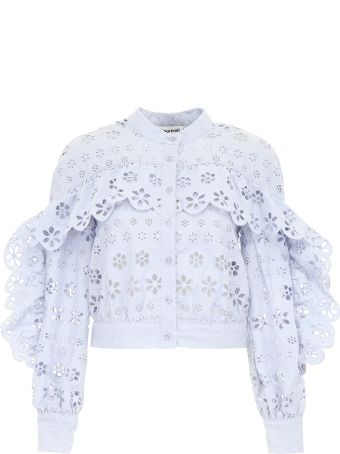 Cropped Lace Classic Shirt