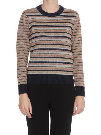 Tory Burch Lurex Stripe Sweater