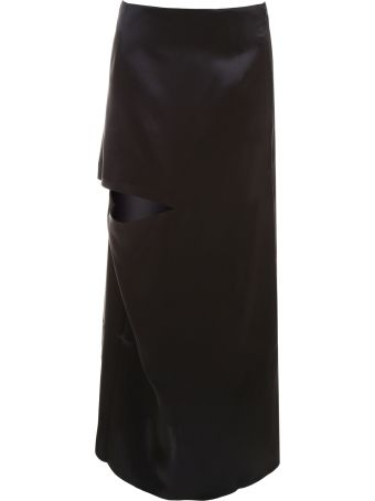 Asymmetric Bonded Skirt With Cut-out Detail