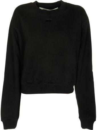 Off-White Cropped Logo Sweatshirt