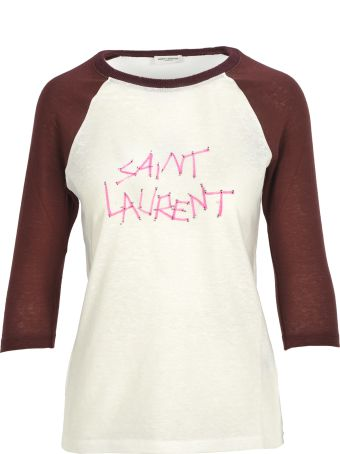 Saint Laurent Paris Tshirt Scritta