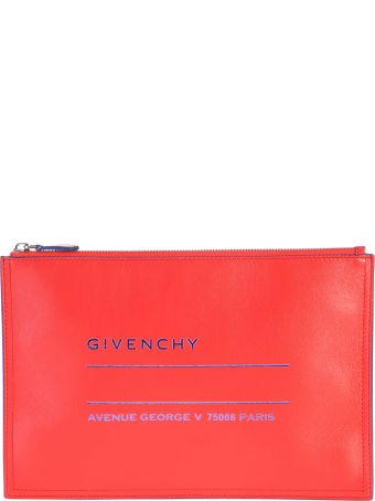 Givenchy Printed Leather Clutch