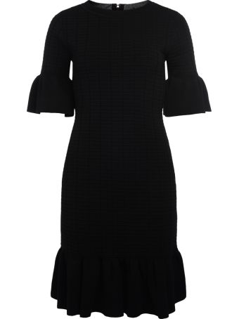 Michael Kors Black Dress With Rouches