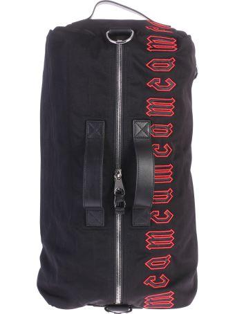 McQ Alexander McQueen Black Branded Duffle Bag