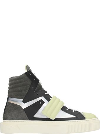 Gienchi Hypnos Grey Leather Sneakers