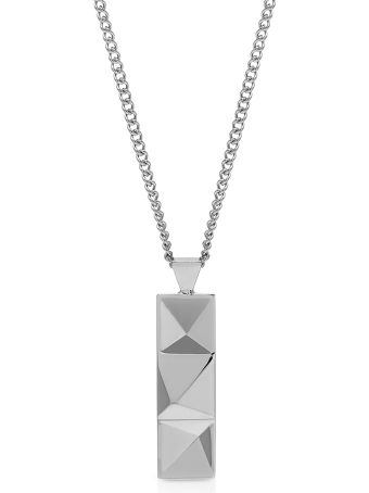 Northskull In N Out Tag Necklace Silver