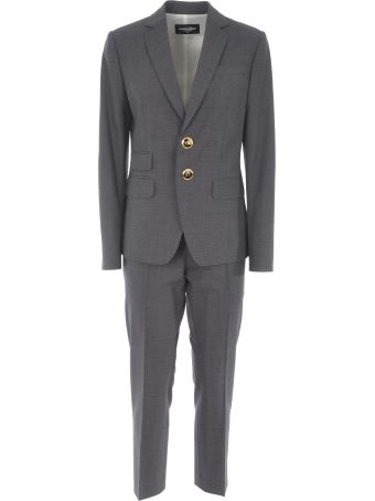 Dsquared2 Button Embellished Suit