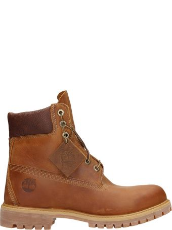 Timberland Brown Leather Heritage Boots