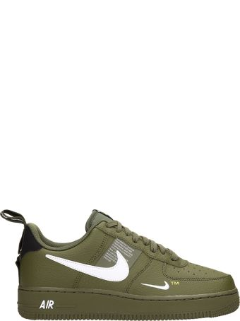 Nike Air Force 1 Green Leather Sneakers