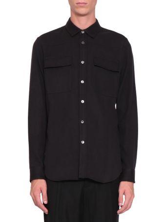 Ann Demeulemeester Black Cotton Flannel Shirt