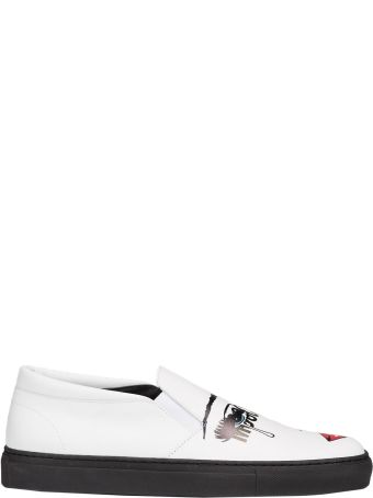 Moschino Pop Art Print Slip-on Sneakers