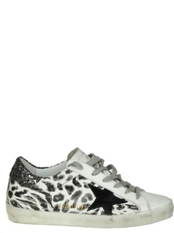 """Golden Goose """"superstar"""" Sneakers In White Leather With Leoparded Print"""