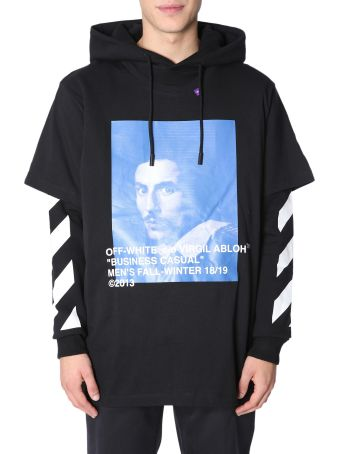 Off-White Hooded Sweatshirt