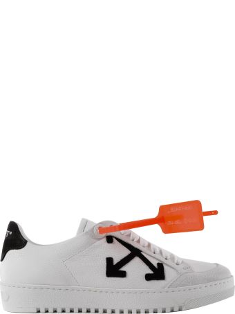 Off White Applique Logo Sneakers