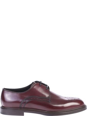 Dolce & Gabbana Bordeaux Derby Shoes