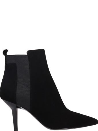 Kendall + Kylie Black Suede Ankle Boots
