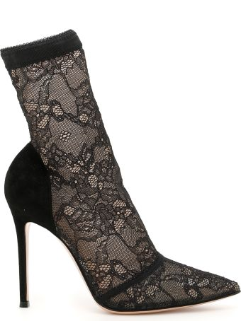 Gianvito Rossi Lace 105 Booties