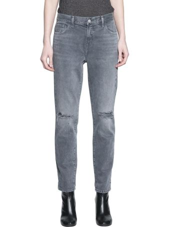 J Brand Johnny Mid Rise Denim Cotton Jeans