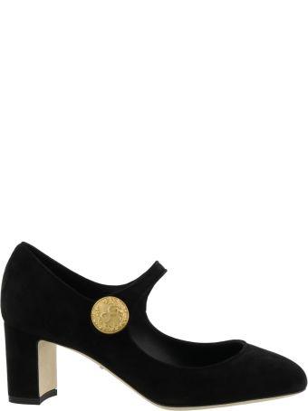 Dolce & Gabbana Mary Jane Suede Pump