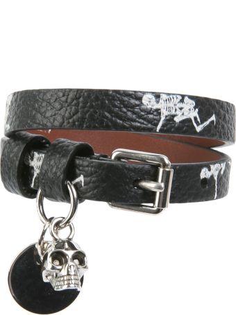 Alexander McQueen Dancing Skeleton Double-wrap Bracelet