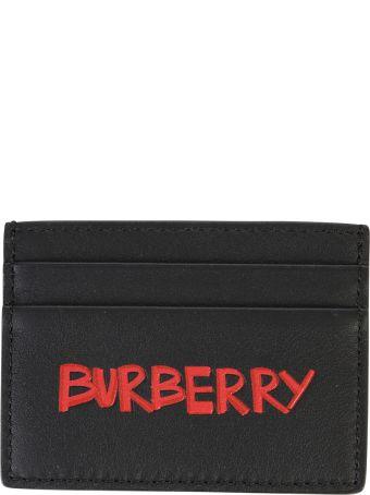 Burberry Black Branded Card Holder