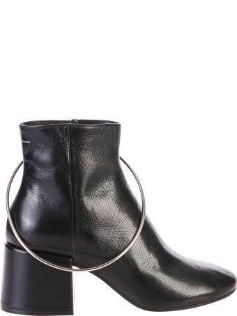 MM6 Maison Margiela Black Zipped Ankle Boots