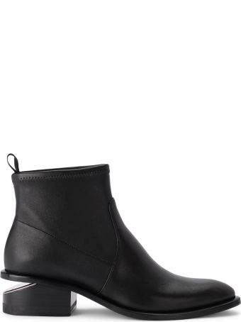 Alexander Wang Kori Black Leather Ankle Boots
