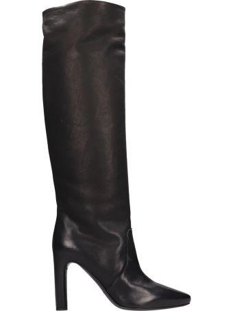 Roberto del Carlo Black Leather Boots