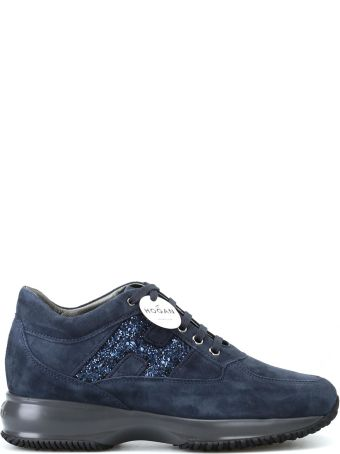 Hogan Interactive Blue Suede Sneakers